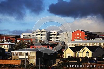 Colorful buildings in Reykjavik