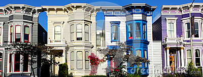 Vibrant and Colorful Buildings Editorial Photo