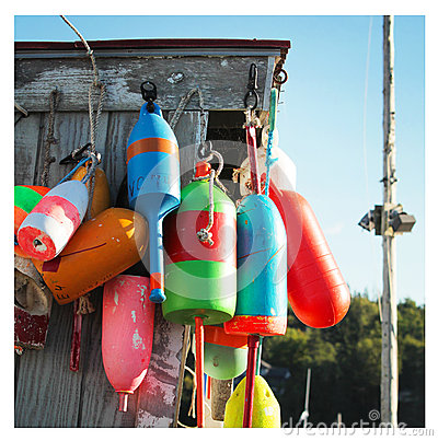 Free Colorful Buoys Royalty Free Stock Images - 45443739