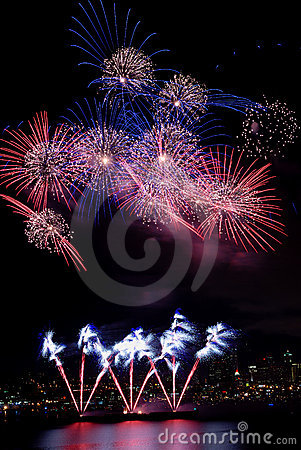 Free Colorful Burst Of Fireworks Stock Photo - 2733750
