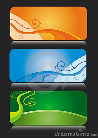Colorful business card themes