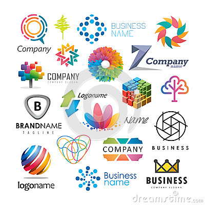 Free Colorful Business Logos Stock Images - 90047324