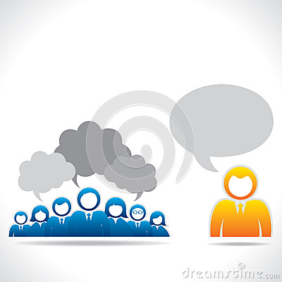 Colorful business people communication concept