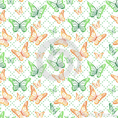 Free Colorful Butterflies Seamless Pattern Royalty Free Stock Photo - 50622145