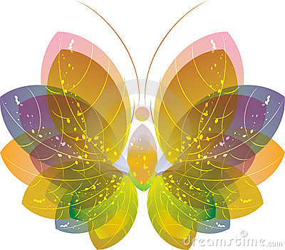Colorful butterfly over white, eps10
