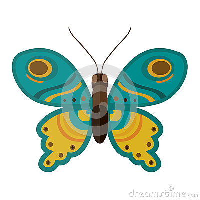 Colorful butterfly vector illustration. Vector Illustration