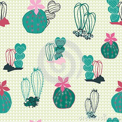 Free Colorful Cacti In The Desert Cartoon Style In A Mixed Line Art And Filled Shapes On A Textured Canvas-like Background. Vector Royalty Free Stock Image - 138647756