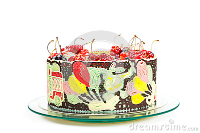 Colorful cake for kids party