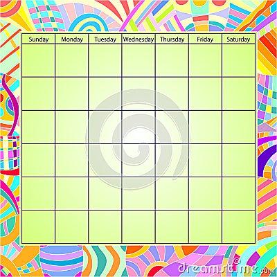 Colorful Calendar Template Stock Photo Image 15759840