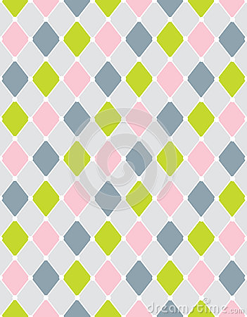 Colorful calm Rhombus. Seamless pattern