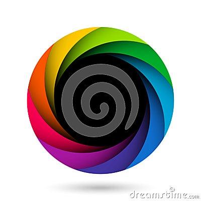 Colorful camera shutter aperture
