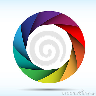 Colorful camera shutter background,Illustration