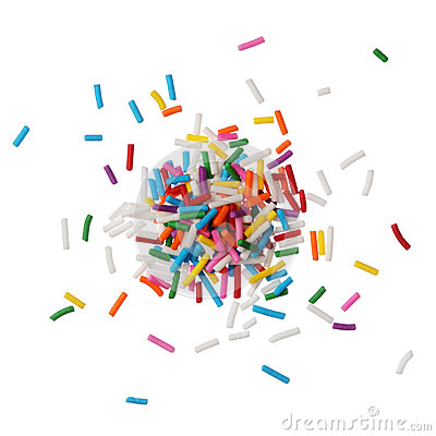 Free Colorful Candy Sprinkles Isolated On White Background Stock Image - 29475071