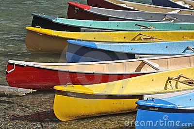 Colorful Canoes dock