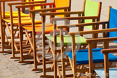 Colorful Canvas Chairs in Symmetry II