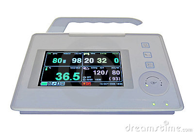 Colorful cardiovascular portable monitor, medical,