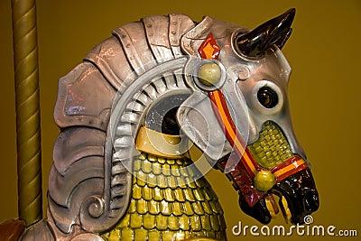 Colorful Caroussel horse head