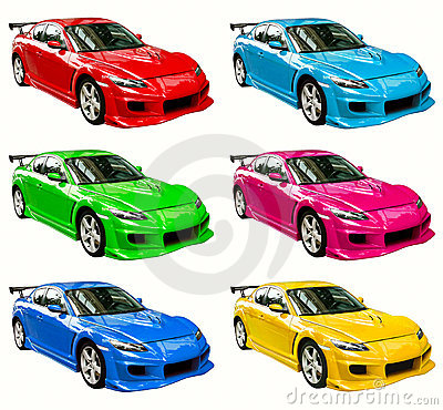 Colorful cars