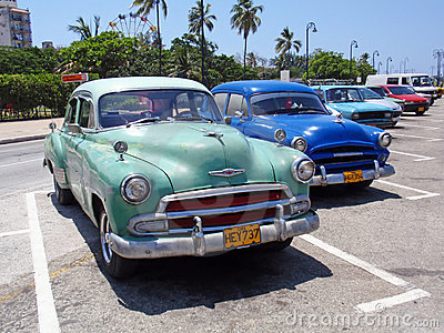 Colorful Cars in Havana, Cuba Editorial Stock Image
