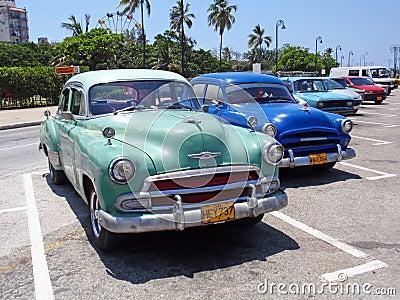 Colorful Cars in Havana, Cuba Editorial Stock Image