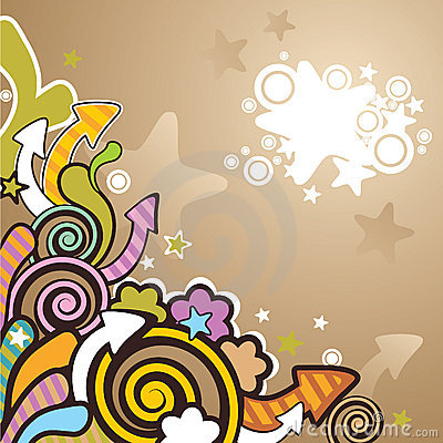 Colorful cartoon background