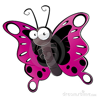 Colorful cartoon butterfly