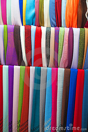 Colorful cashmere shawls