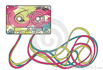 Colorful cassette tape