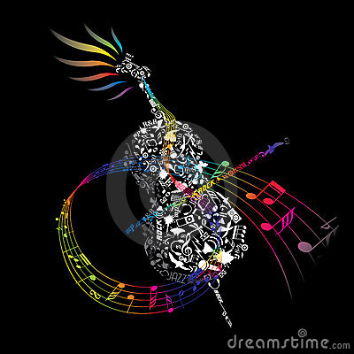 Colorful CELLO with composed music elements
