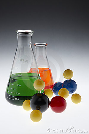 Colorful chemicals and molecules