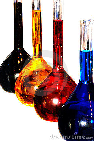 Free Colorful Chemistry Liquid Glass Retorts Isolated Stock Images - 784154