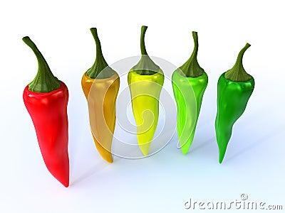 Colorful chili