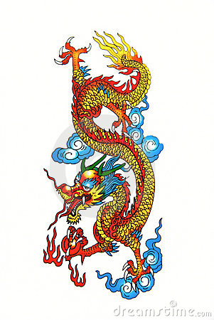 Free Colorful Chinese Dragon Stock Image - 22139591
