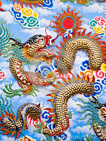 Free Colorful Chinese Dragon Art Stock Photo - 28624340