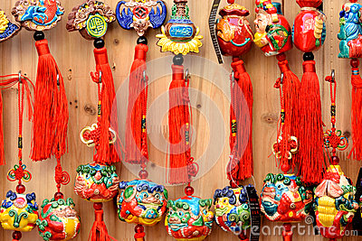 Colorful protective talisman in Chinese traditional style