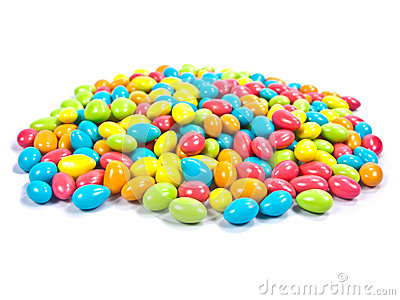 Colorful chocolate candy.