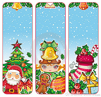 Colorful Christmas banners series