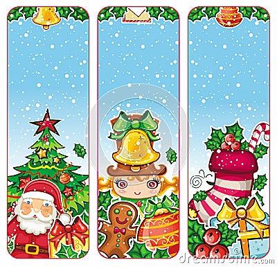 Colorful Christmas banners series