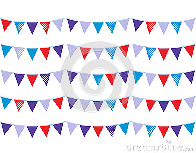 Colorful christmas bunting