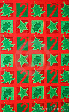 Colorful Christmas Gift Wrapping Paper Background