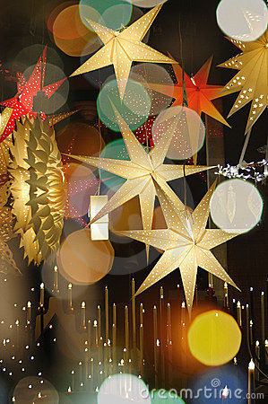 Free Colorful Christmas Stars Royalty Free Stock Images - 22150269