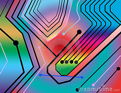 Colorful circuit board