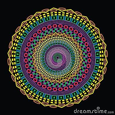 Colorful Circular Ethnic Design