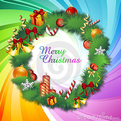 Colorful Classical Christmas Card Royalty Free Stock Photography - Image: 17548947