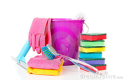 Colorful cleaning equipment