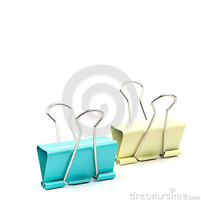 colorful clips on white background