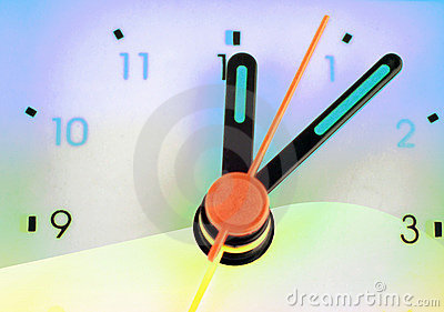 Colorful clock face
