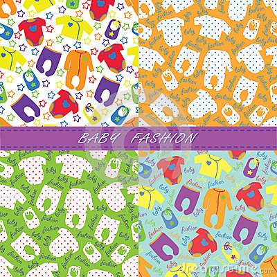 Unisex Baby Backgrounds Colorful Clothe...