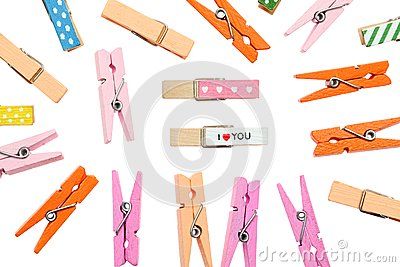 Colorful clothespin