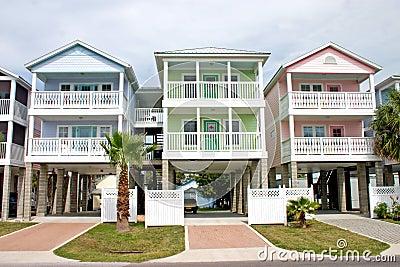 Colorful coastal rentals